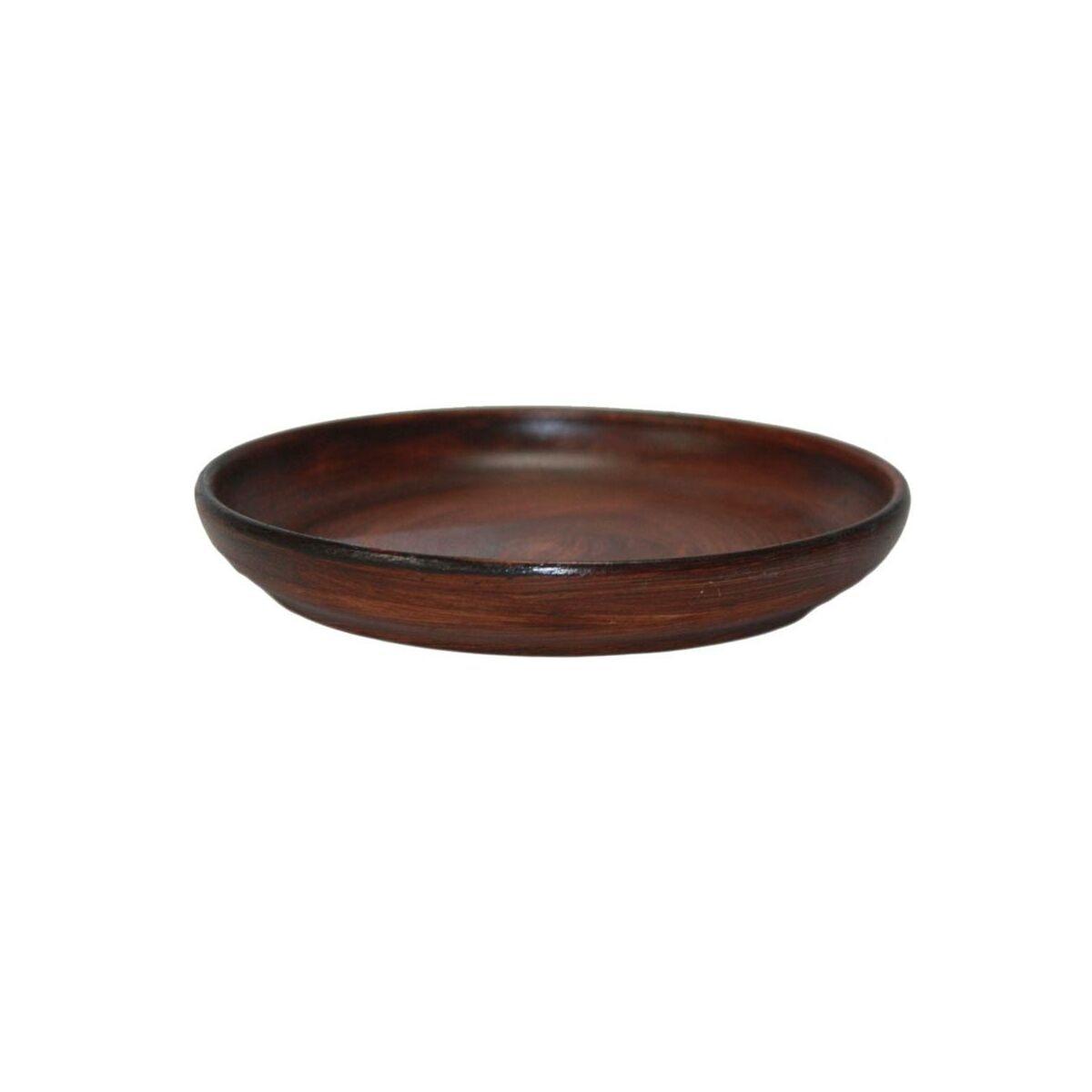 Podstawka Pod Doniczkę 25 Cm Ceramiczna Brązowa Eko Ceramika