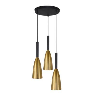 Lampa wisząca SOLIN złoto-czarna 3 x E27 LIGHT PRESTIGE