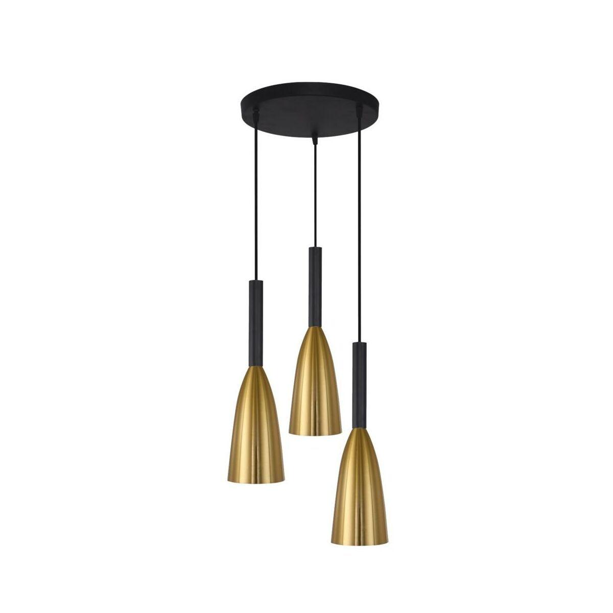 Lampa wisząca SOLIN złoto czarna 3 x E27 LIGHT PRESTIGE