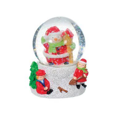 Kula śnieżna mała 6 cm 1 szt. czerwono biała