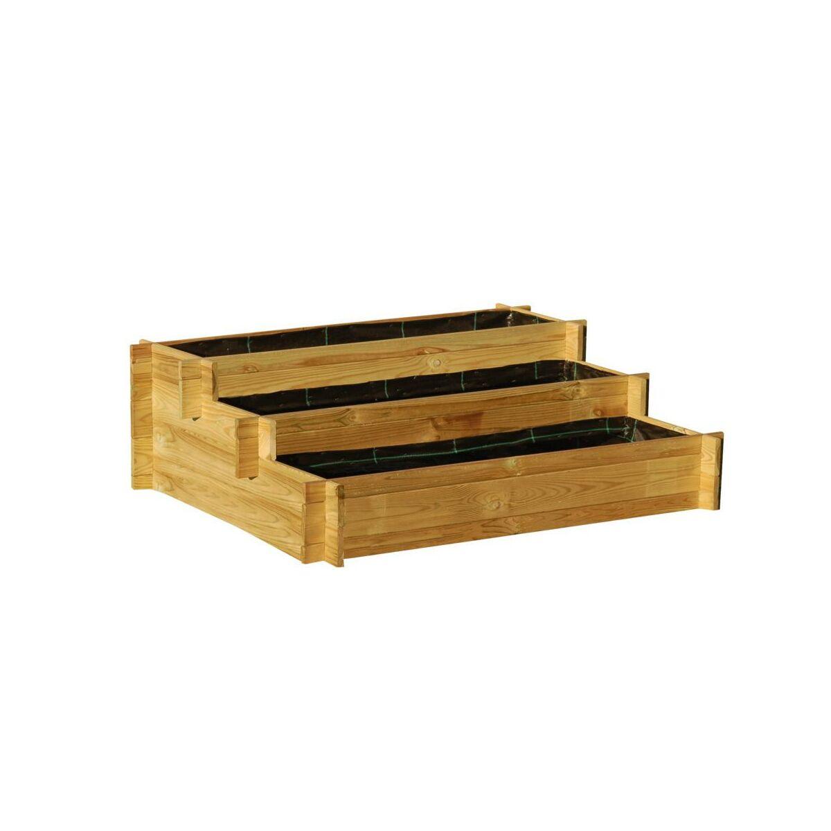 Warzywnik 100 x 75 cm drewniany NIKOLE FOREST STYLE