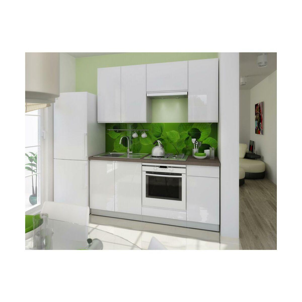 Zestaw mebli kuchennych LAMJA kolor biały LAYMAN  Meble   -> Kuchnia Leroy Merlin Limonka
