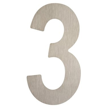 Cyfra 3 wys. 5 cm metalowa srebrna