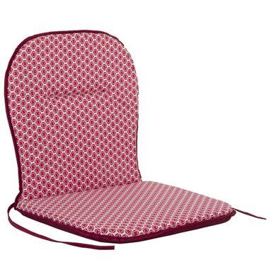 Poduszka na krzesło 43 x 80 x 3 cm BEN czerwona PATIO