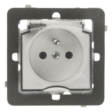 Gniazdo pojedyncze IP44 2P + Z ROSA  biały  POLMARK
