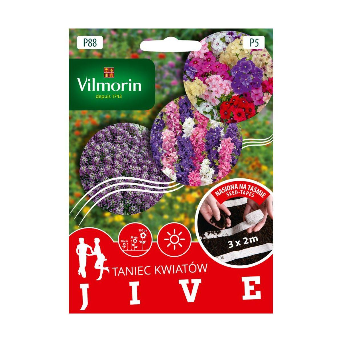 Mieszanka kwiatów JIVE nasiona na taśmie 3 x 2 m VILMORIN