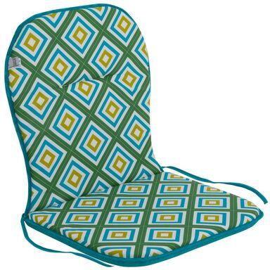 Poduszka na krzesło 43 x 80 x 3 cm BEN turkusowa PATIO