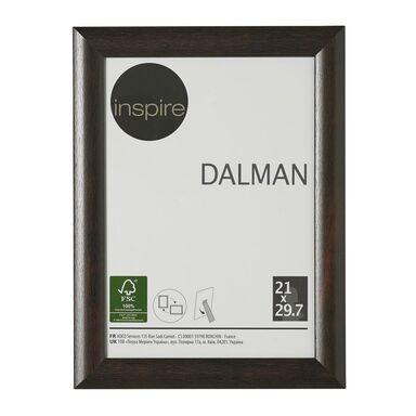 Ramka na zdjęcia DALMAN 21 x 29.7 cm brązowa drewniana INSPIRE