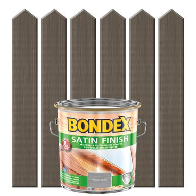 Lakierobejca do drewna SATIN FINISH 2,5 lModrzew palony BONDEX