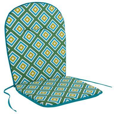 Poduszka na krzesło 46 x 96 x 3 cm BEN turkusowa PATIO