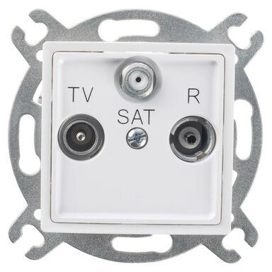 Gniazdo RTV - SAT przelotowe ROSA  biały  POLMARK