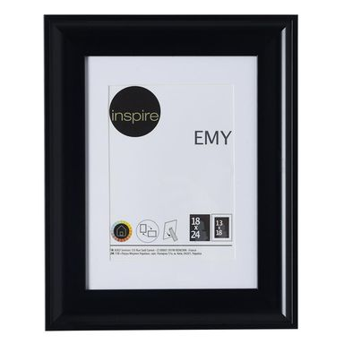 Ramka na zdjęcia EMY 18 x 24 cm czarna INSPIRE