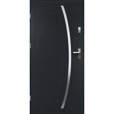 Drzwi zewnętrzne stalowe HELIOS Antracyt 90 Lewe OK DOORS TRENDLINE