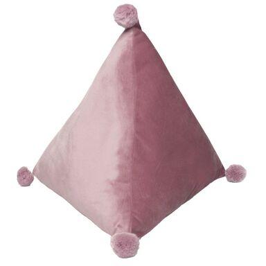 Poduszka trójkątna Trevi różowa 37 x 33 cm