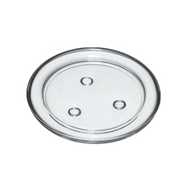 Świecznik szklany śr. 11.2 cm transparentny
