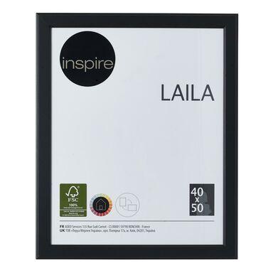 Ramka na zdjęcia LAILA 40 x 50 cm czarna MDF INSPIRE