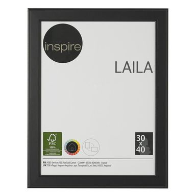 Ramka na zdjęcia LAILA 30 x 40 cm czarna MDF INSPIRE