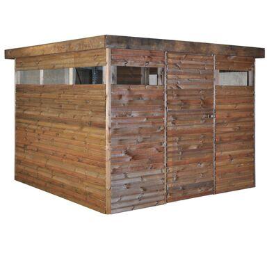 Domek ogrodowy NIVE 300 x 306 x 213 cm drewniany NATERIAL