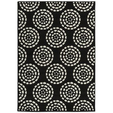 Dywan CIRCLE czarny 120 x 170 cm wys. runa 9 mm MULTI-DECOR