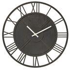 Zegar ścienny LZE-18 śr. 35 cm czarny drewniany