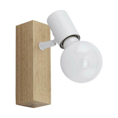 Reflektorek TOWNSHEND biały z drewnem E27 EGLO