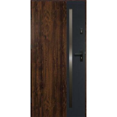 Drzwi wejściowe ARTEO Orzech 90 Lewe OK DOORS TRENDLINE