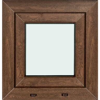 Okno PCV 2-szybowe O1 Orzech 565 x 535 mm