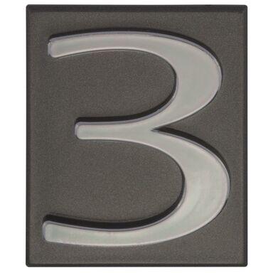 Cyfra 3 wys. 5 cm PVC grafitowa