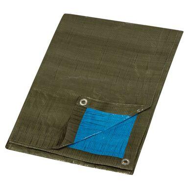 Plandeka ochronna 2 x 3 m zielono-niebieska uniwersalna