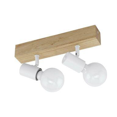Listwa reflektorowa TOWNSHEND biała z drewnem E27 EGLO