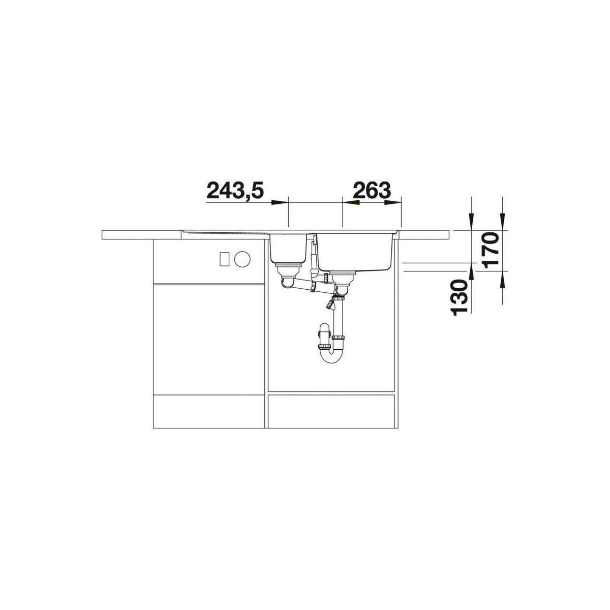 zlewozmywak classic pro 6 s if 100 cm blanco sprawd opinie w leroy merlin. Black Bedroom Furniture Sets. Home Design Ideas