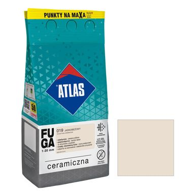 Fuga ceramiczna 019 jasnobeżowy 5 kg ATLAS