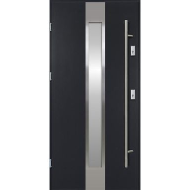 Drzwi zewnętrzne stalowe Neptun Antracyt 90 Lewe Ok Doors Trendline