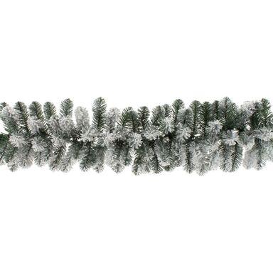 Girlanda świerkowa ośnieżona 270 cm zielona PVC