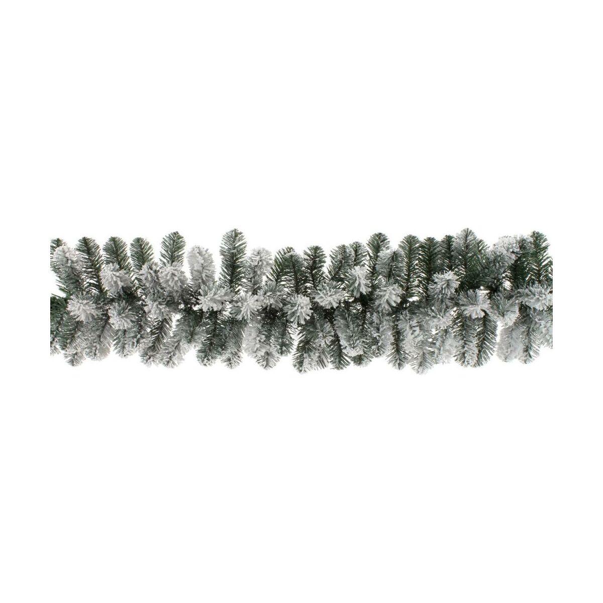 Girlanda Swierkowa Osniezona 270 Cm Zielona Pvc Swieczniki I Dekoracje Swiateczne W Atrakcyjnej Cenie W Sklepach Leroy Merlin