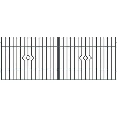 Brama dwuskrzydłowa LILA 400 x 150 cm POLARGOS