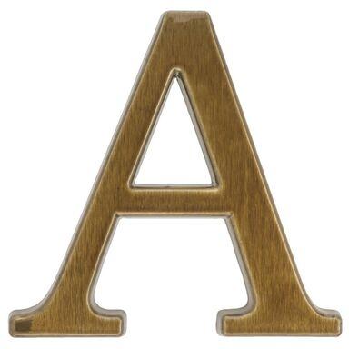 Litera /A/ 10,5CM BRĄZ TRANSPARENT ALUMINUM