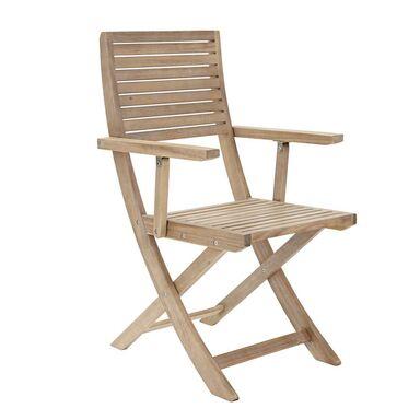 Fotel ogrodowy SOLARIS drewniany NATERIAL