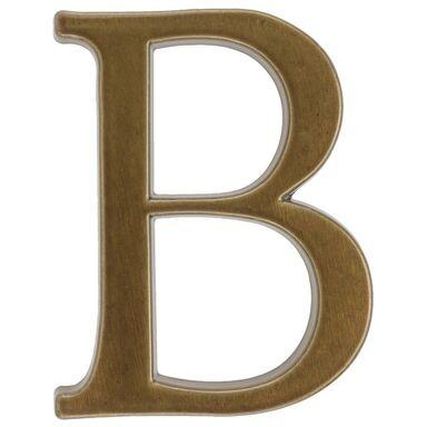 Litera B wys. 10.5 cm aluminiowa brązowa