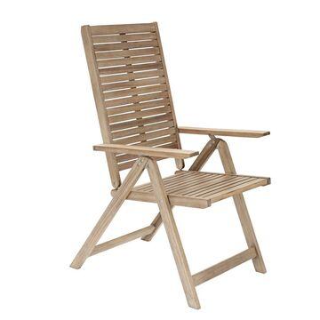 Fotel ogrodowy SOLARIS drewniany z regulowanym oparciem NATERIAL