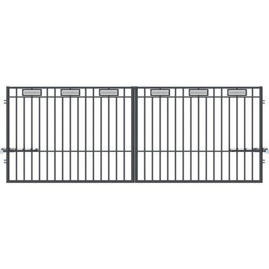Brama dwuskrzydłowa z automatem ARGOS 2 400 x 150 cm POLARGOS