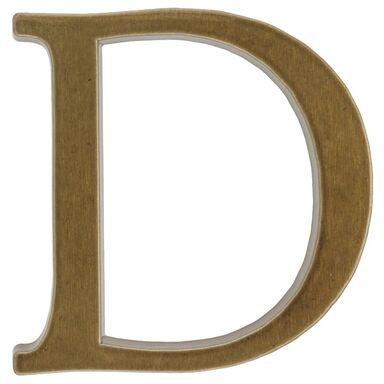 Litera D wys. 10.5 cm aluminiowa brązowa