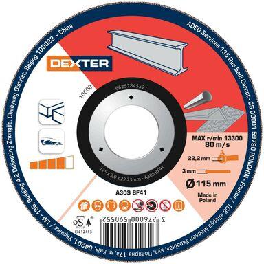 Tarcza do cięcia 115 x 3.0 x 22.23 STAL/INOX DEXTER
