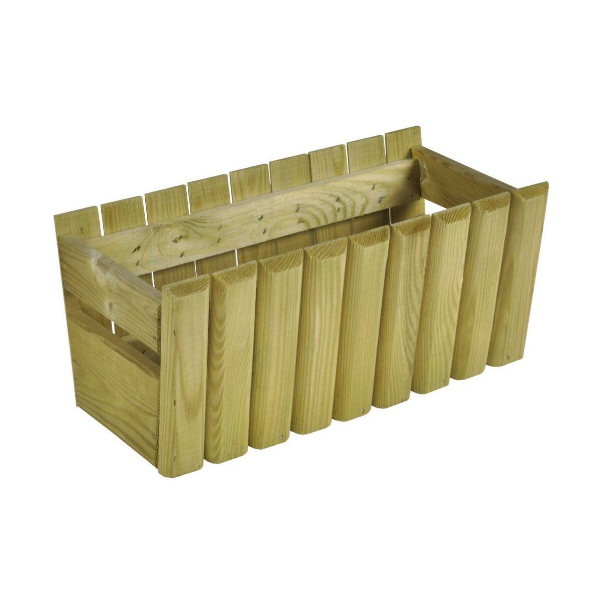 Donica / skrzynka balkonowa 40 x 20 cm drewniana STOKROTKA SOBEX