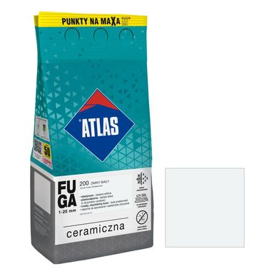 Fuga ceramiczna 200 zimny biały 5 kg ATLAS