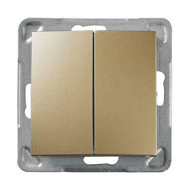 Włącznik pojedynczy IMPRESJA  Złoty  OSPEL