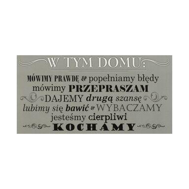 Tabliczka W TYM DOMU  19.5 x 10 cm