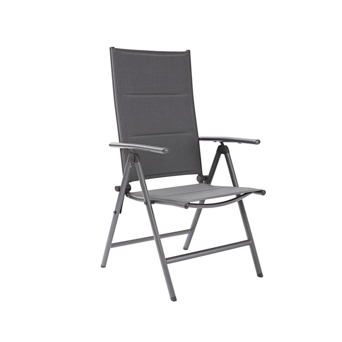 Krzesło ogrodowe ORION aluminiowe z ragulowanym oparciem NATERIAL