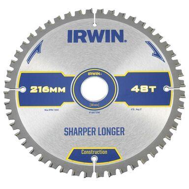 Tarcza do pilarki tarczowej 216MM/48T M/30  216 mm zęby: 48 szt. IRWIN CONSTRUCTION