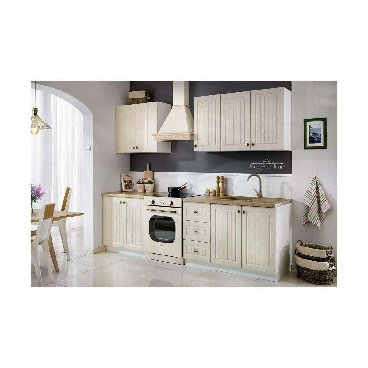 Zestaw mebli kuchennych LEA kolor dąb prowansalski MEBLE   -> Wnetrza Leroy Merlin Kuchnia